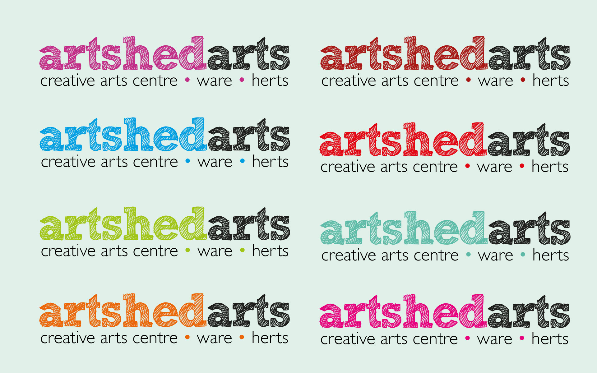 Cove Design Studio - Artshed Arts Logo