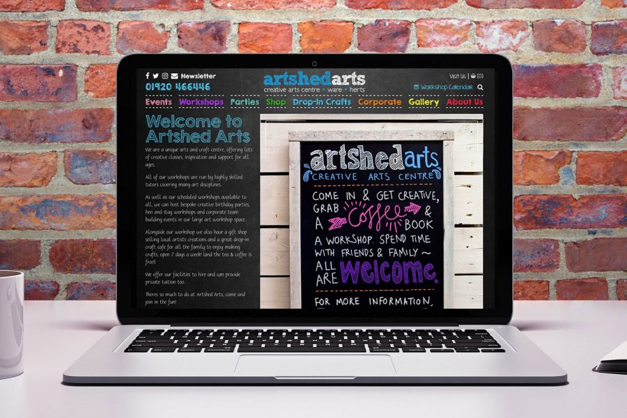 Cove Design Studio - Artshed Arts Website