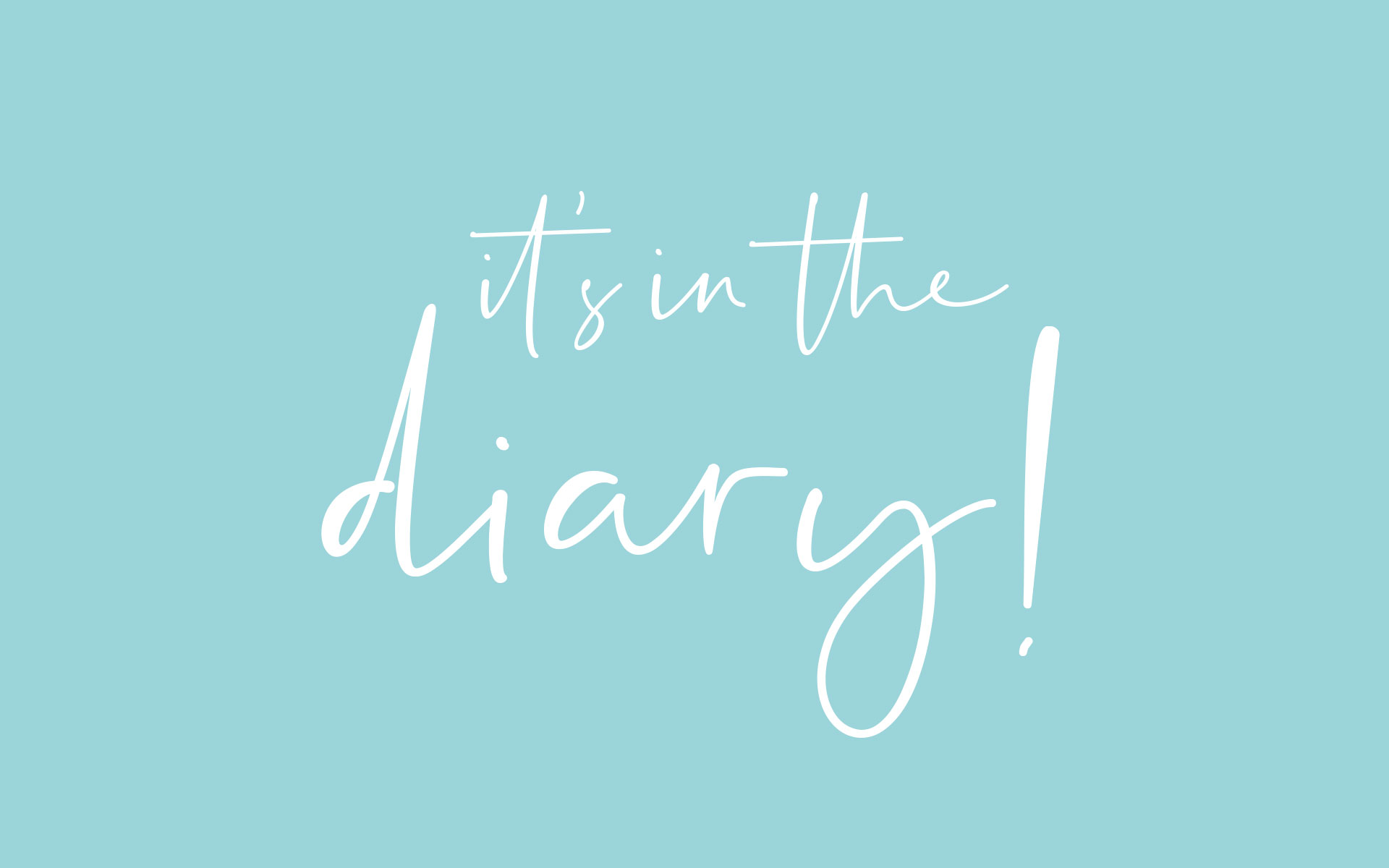 Cove Design Studio - it's in the diary! Logo